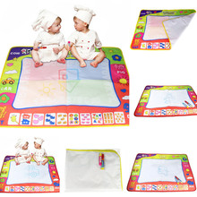 Hot New Child Kids Drawing Toys Water Drawing Painting Writing Mat Board Magic Pen Doodle Gift 80*60cm Aqua Doodle Lowest Price