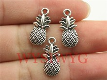 WYSIWYG 10pcs 19*9mm antique silver Pineapple charms