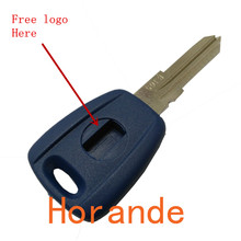 Keys for Fiat transponder key shell with logo for fiat car key case fob selling