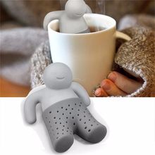 5pcs Dinnerware Tea tool Interesting Life Partner Cute Mr Teapot Tea Filter Baskets Infuser/ Strainer/Coffee & Tea Sets/silicone