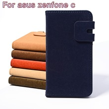 HOT Flip Leather Phone Shell For Asus Zenfone C ZenfoneC ZC451CG Z007 4.5inch Specially Design Housing Cases Back Cover Holster