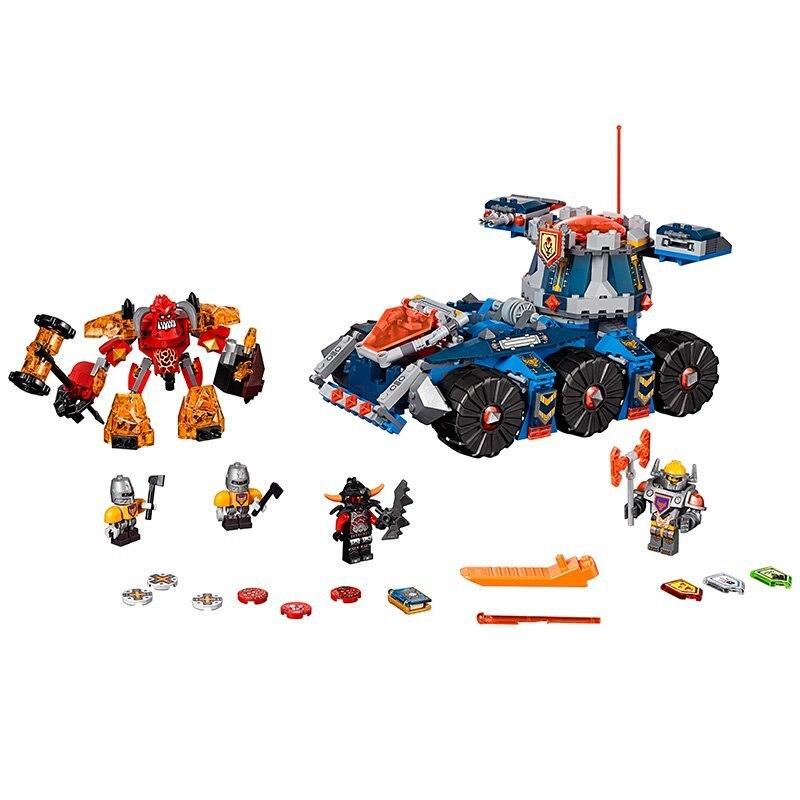 LEPIN Nexo Knights Axl Axls Tower Carrier Combination Marvel Building Blocks Kits Toys  Compatible Legoe Nexus<br>