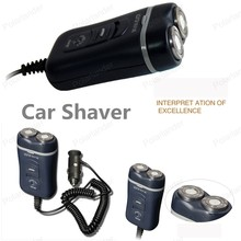 2016 NEW car shaver  car razor   NEW Travel CarAuto Double Shaving Heads Electric Shaver Automotive Razor Black for Man