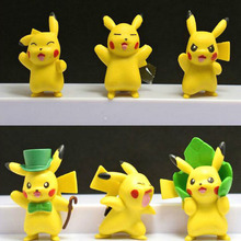 New Arrival 6pcs Six Styles PVC Pikachu Action Figure Toy  Model Kids Birthday Gifts toys 4-5 CM