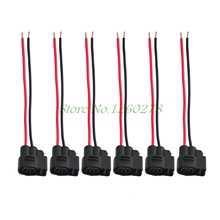 Auto Car 6 Pcs Ignition Coil Connector Pigtail Plug Harness For Toyota Supra Lexus LS400 Mazda RX7