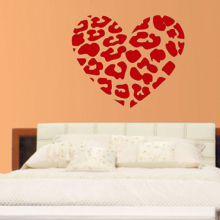 New Originality Bedroom Decor Cheap Wall Sticker A Heart Shaped Mural Wall Paper(China)