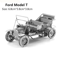 3pcs/lot 3D Metal Puzzle Ford Model T Puzzle Education Toys Jigsaw Puzzle Toys Kids Gifts Home Decoration 6.8*3.8*3.8cm