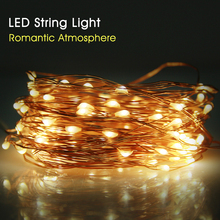 High Bright Copper Wire LED String Light Wedding Decoration Outdoor Lighting Strings 10M Waterproof Fairy Lights For Christmas(China)