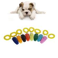 200pcs/lot Pet Dog Training Adjustable Sound Dog Whistle Key Chain Dog Clicker Flute Stop Barking Pet Training Repeller Train