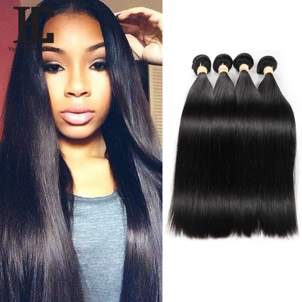 8A HC Brazilian Virgin Hair Straight 100% Unprocessed Human Hair Weave Bundles Soft Thick Brazilian Hair Extensions 4Pcs Lot <br><br>Aliexpress