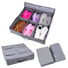 Folding Shoe Storage Organizer Home Living Room Under Bed Boots Storage Holder Box