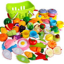 Food Cutting Classic Toys Colorful Pretend Toys Educational Kitchen Food Toys Kits Vegetable Fruit Play House Toys For Children