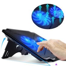 "New Notebook Cooling Pad Laptop Cooler 2 LED Fans 2 USB Port Stand Adjustable Chill Mat Pad for 15.6""  Notebook PC"