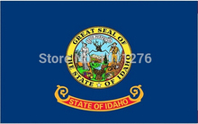 3x5ft High quality New fashion Idaho flag United State American Banner Digital Printing 100D(China)