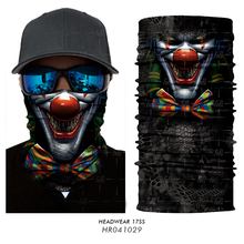3D Seamless Skull Skeleton Joker Magic Headband Balaclava Tube Neck Warmer Face Mask Motorcycle Bicycle Winter Military Bandana