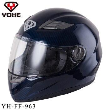 YOHE Casque De Course De Sécurité Moto Casque Moto Unisexe Casque Intégral Carbonfiber Ece Casque De Moto Snell 963BB