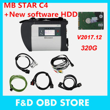 MB Star C4 with V2017.12 Version HDD Xentry Compact 4 dts das Mercedes Diagnosis Multiplexer For Benz Diagnose DHL Free Shipping(China)
