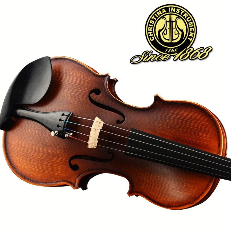 Italy Christina V02 beginner Violin 4/4 Maple Violino 3/4 Antique matt High-grade Handmade acoustic violin fiddle case bow rosin<br><br>Aliexpress