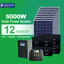 BESTSUN Chinese manufacturer for home use cheap off grid solar powersystem 5KW 96V solar electric system with battery