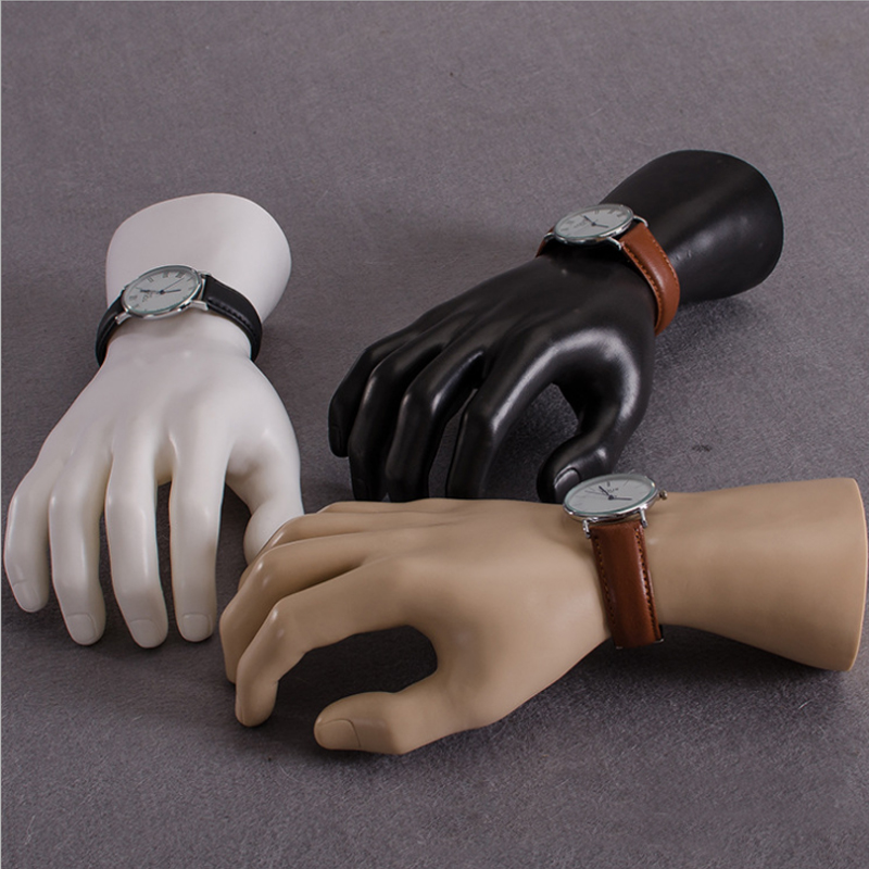 White Color Right Male Mannequin Hand Display