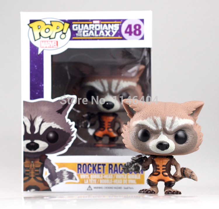 POP 10cm Marvel Guardians of the Galaxy Rocket Raccoon action figure Bobble Head Classic Toys new box<br><br>Aliexpress
