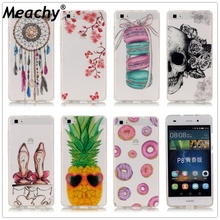 Meachy For Fundas Huawei P8 Lite Case Soft TPU Slim Paint Skull Cute Cell Phone Cases For Huawei P8 Lite Case Coque    E20