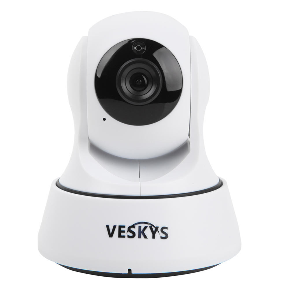 VESKYS Wireless IP Camera WiFi Surveillance Camera 720P Night Vision Motion Detection P2P Baby Security Camera Monitor<br>