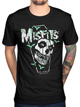 2017 New Creative Misfits Coffin T Shirt New Merch Horror Punk Walk Among Us Dead Alive  Design Tops High Quality Soft Tee
