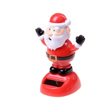 1 pcs Santa Claus Solar Powered Shaking Toy Christmas Toys Christmas Decoration Best Gift