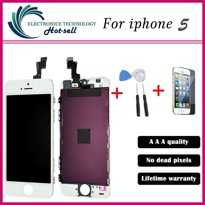 AAA Quality No Dead Pixel Pantalla For iphone 5 5c 5s LCD Display Screen with touch Digitizer Assembly replacement<br><br>Aliexpress