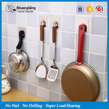 Magic Sticker Wall Hook 6ps Hook Set Wall Mounted kitchen Bathroom Hook Key Clothes Coat Towel Door Bag Hook SQ-5084(China)