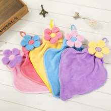 New sun flower towel coral fleece absorbent towel hanging super absorbent towel towel for children