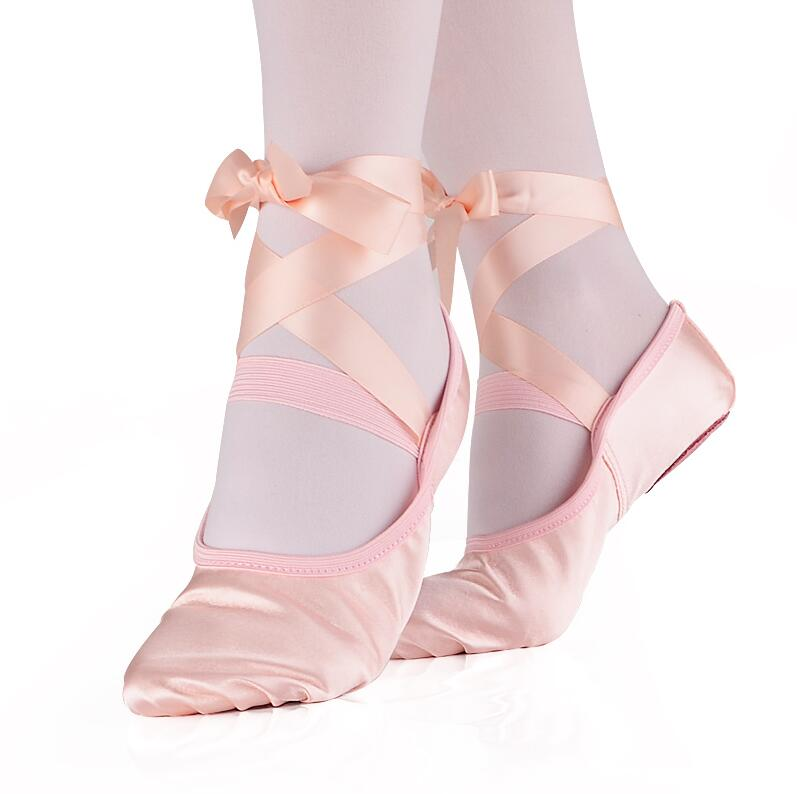 Comemore Professional Ballet Pointe Shoes Girls Women Ladies Satin Ballet Shoes With Ribbons Children Yogas Dancing Shoes(China)