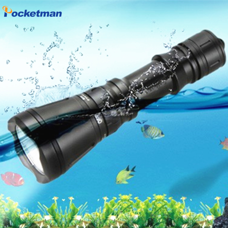 LED Dive Lamp Scuba Diving Flashlight CREE XML T6 Underwater 60M led Flash Light Lanterna  Torche Lampe zk50<br><br>Aliexpress