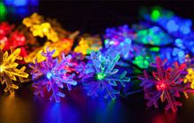 Solar Fairy Lights 4.8m 20 LED Snow Colorful LED Garden Lamps Outdoor Lighting Wedding Party Birthday Christmas Decoracion