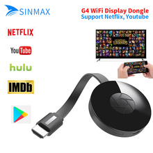 Support Netflix YouTube Google HDMI Android TV Stick G4 1080P HD Wireless Miracast Dongle Airplay 2.4G Wifi Chormecast Dongle(China)