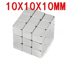 10*10*10 n35 magnet Wholesales 10 pc Strong Block Cube Magnets 10mm x 10mm x 10mm Rare Earth Neodymium magnets