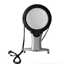 Лампа Лупа с подсветкой Вышивка 2x Hands Free 5x объектив lupas для Вышивка увеличительное Стекло со светодиодным лупа для Вышивка(China)