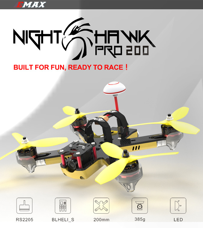 Nighthawk Pro 200 PNP RC FPV Racer Drone 5.8G Transmitter RS2205 2300KV Motor F3 Flight Control Camera Quadcopter
