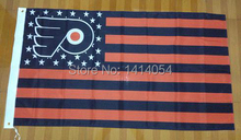 NEW JERSEY DEVILS with Stripes And Stars Flag 150X90CM  NHL 3X5 FT Banner 100D Polyester flag grommets 001, free shipping