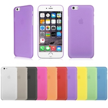 Colorful Matte Phone Case Cover For iphone X 7 7 Plus Case Cover Plastic Cell Phone Bags Frosted Shell For iphone 5 5s 5se 6 6s(China)