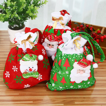 /lot Santa Claus Snowman Gift Candy Bag Ornaments Xmas Decor Pendant Christmas Decoration New Year navidad natal - No.8 Store store