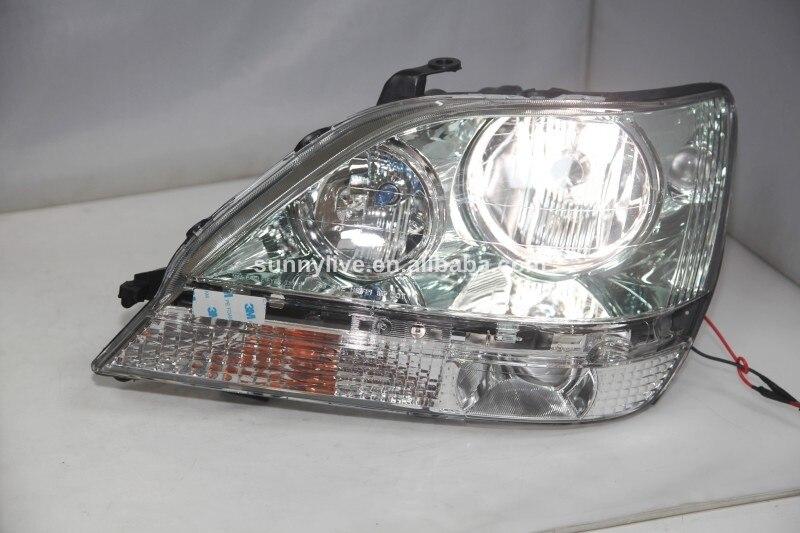 chrome clear lens Headlights front halogen H7 H7 lights for PEUGEOT 206 98-03