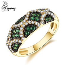 HIYONG Unique Design Football Ring High Quality Green&White Colour CZ Two-Tone Color Luxury Ring for Party Accessory Daliywear(China)