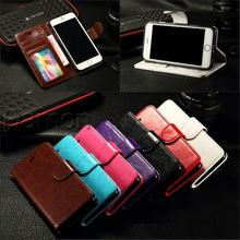 For iphone 5 5S Phone Cases Mango Series Wallet PU Flip Leather Cell Phones Case Cover With Stand Holder For iPhone 5 5S 5G Case