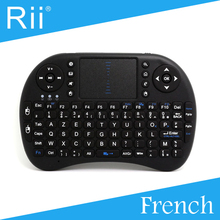 Free Shipping - Original Rii i8 2.4G Wireless French Version Mini Keyboard for Android TV Box/PC High Quality  Black Color