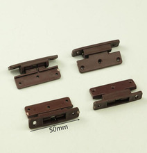 Plastic Spring Hinge Cabinet Door Hinge Small Plane hinges x10(China)