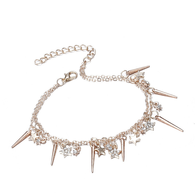 NEW Beads anklets for Women Little Star Women Chain Ankle Bracelet Barefoot Sandal Beach Foot Jewelry Sandals Pulseras J28#N (5)
