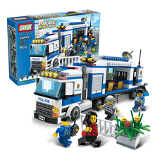 GUDI Command Vehicles Police City Series Set Building Bricks Blocks DIY Educational Assembled Childens Toys Gifts