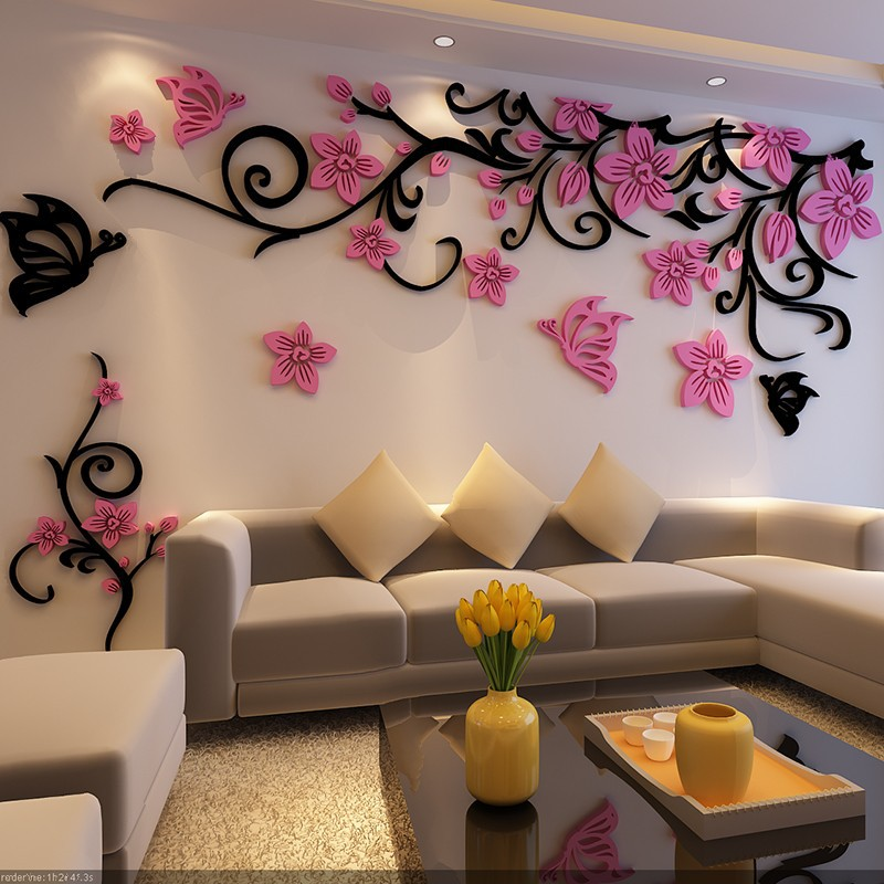 detail feedback questions about 3d crystal tree wall stickers
